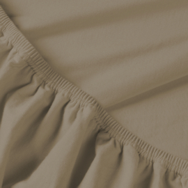 Billerbeck REBEKA pamut jersey gumis lepedő kapucíner 90/100*200 cm