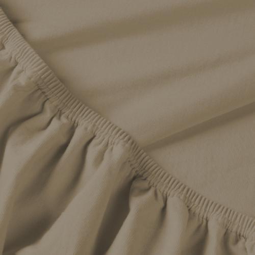 Billerbeck REBEKA pamut jersey gumis lepedő kapucíner 180/200*200 cm