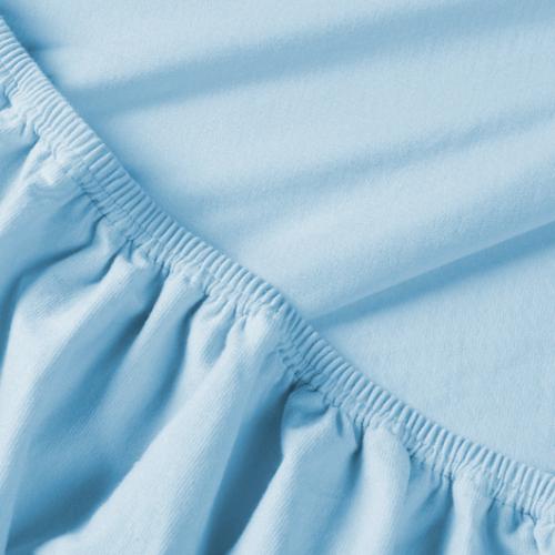 Billerbeck REBEKA pamut jersey gumis lepedő világos kék 140/160*200 cm
